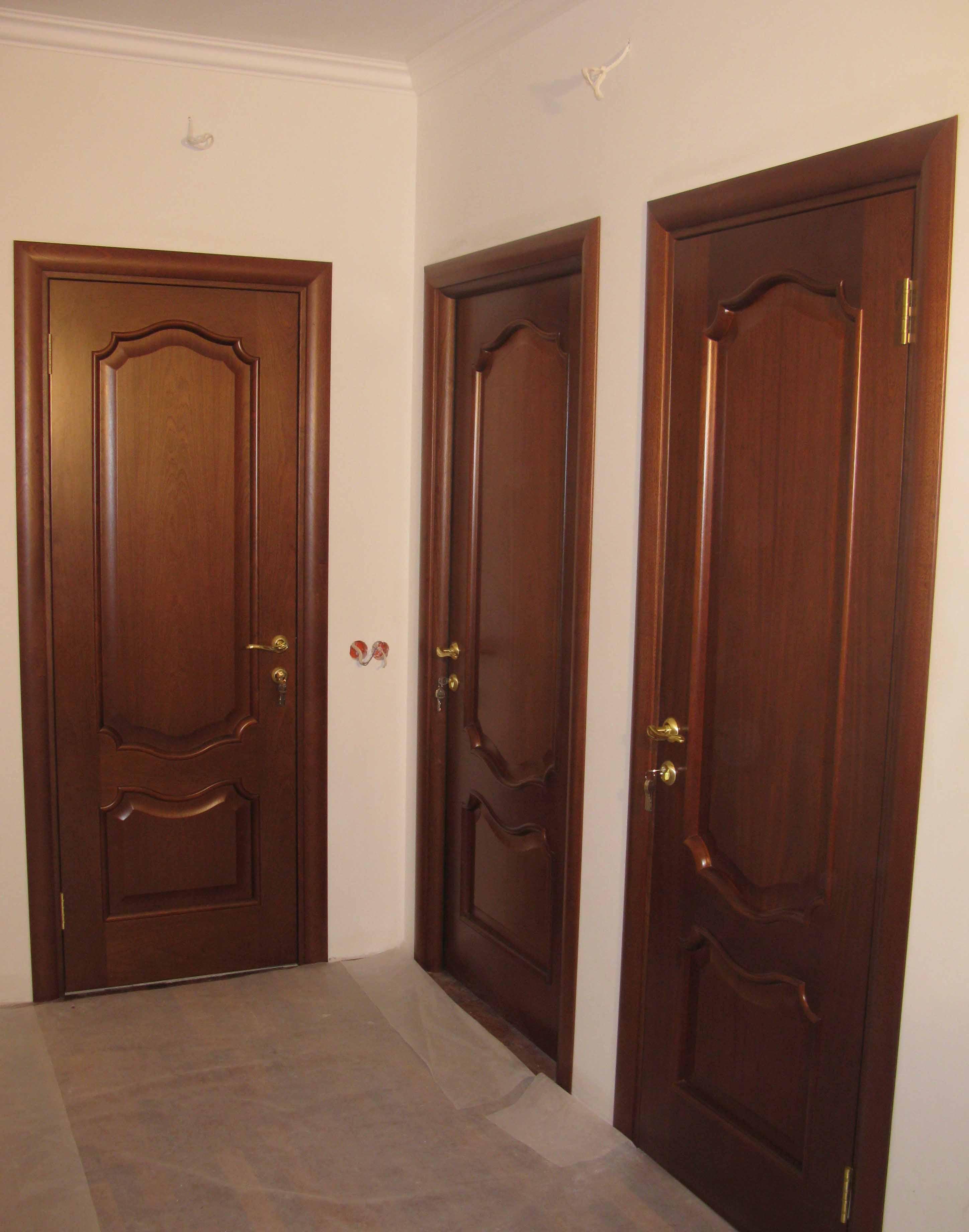 Установка межкомнатных дверей цена за работу москва